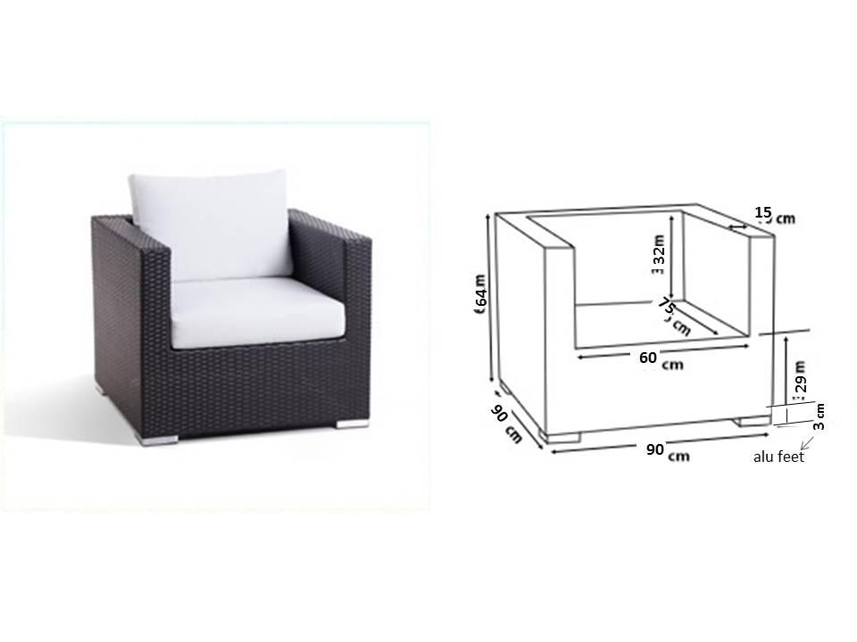 Hoezenset grijs relaxgarden - Sofa vlechtwerk ...