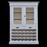 Wine rack Antique white  90x40x205