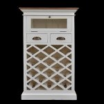 Small wine rack Antique white  54x39x140