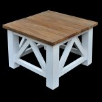 Cross coffee table 60 Antique white  60x60x45
